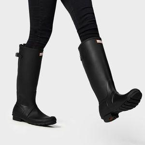 Hunter Original Tall Rainboots matte black 8